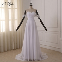 Best Selling Sweetheart Backless A Line Beach Wedding Dresses Court Train Chiffon Ruffles Cheap Fashion 2015
