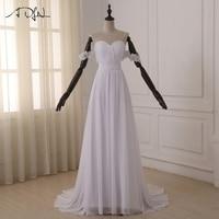 Best Selling Sweetheart Backless A Line Beach Wedding Dresses Court Train Chiffon Ruffles Cheap Fashion 2015