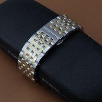 Thép không Gỉ Wrist Strap cho của men lady Ban Nhạc Đồng Hồ Khóa Cổ Điển Thay Thế Dây Đeo Cổ Tay Watchband strap bracelet đánh bóng hot