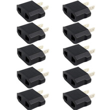 10pcs European Euro EU to US USA Plug Travel Charger Adapter Outlet Converter-L060 New hot