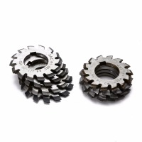 8pcs HSS Involute Gear Cutters Set Diameter 22mm M1 Module PA 20 Degree 1 8 Assortment