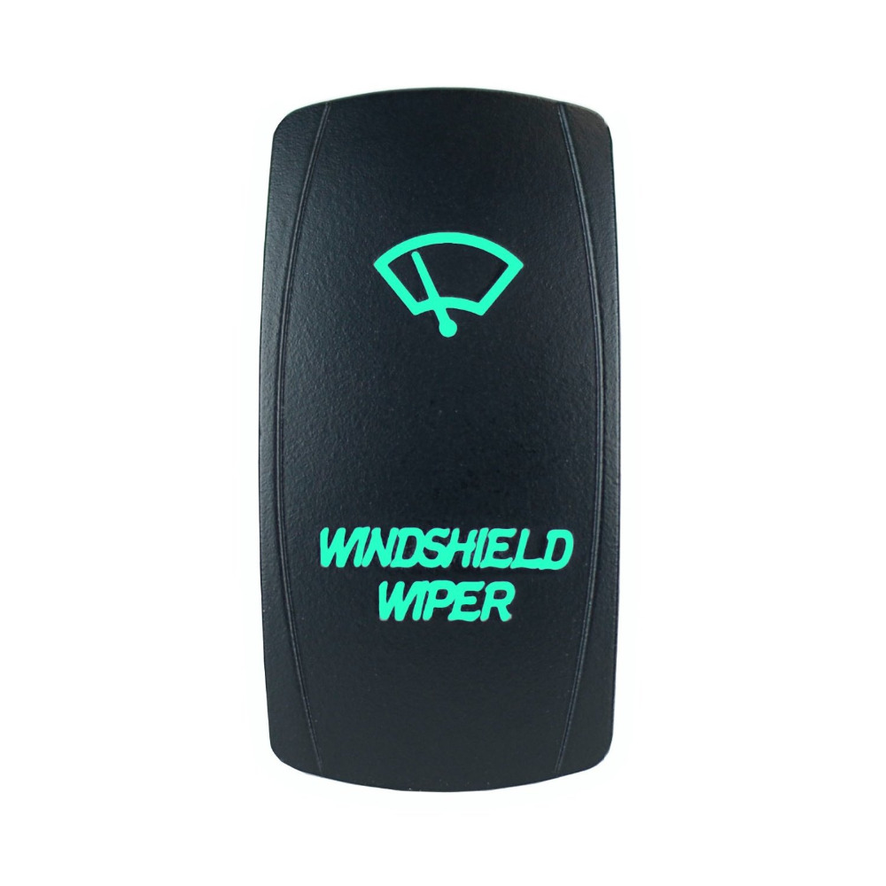 How to change replace install column head light wiper switch honda - High Quality 5 Pin Laser Backlit Green Rocker Toggle Switch Windshield Wiper 20a 12v On