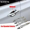 For Hyundai Solaris/Verna 2015 2014 Car Door Handle Covers Chrome Trim Chromium Styling Interior Decoration Auto Accessories