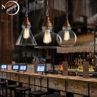 유럽 나뭇결 유리 펜 던 트 램프 e27 220 v 조명 부엌 거실 침실 연구 통로 레스토랑 바 카페 호텔