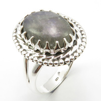 Wedding Engagement Jewelry Labradorite Ring Size 7.75 Pure Silver Unique Designed
