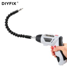 DIYFIX 295mm 1/4″ Hex Electronics Drill Flexible Shaft Bits Soft Extension Rod Screwdriver Bit Holder Dremel Connect Link