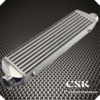 """Universal Bar&Plate Front Mount Intercooler 550*140*64 FMIC 2.5"""" In/Outlet   silver"""