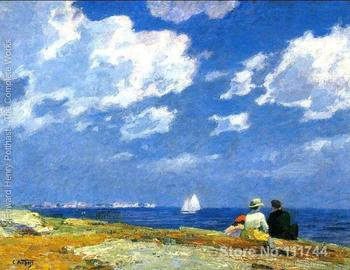 Copy paintings of famous artist Along the Shore Edward Henry Potthast artwork High Quality Handmade