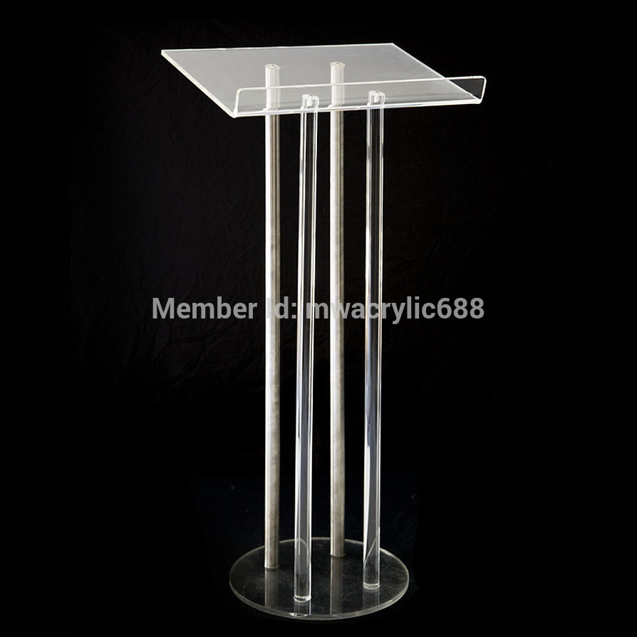 pulpit furniture Free Shipping Price Reasonable CleanAcrylic Podium Pulpit Lectern acrylic pulpit podium kindergarten school furniture school furniture price list kids wholesale price with free shipment 50 chairs to vietnam
