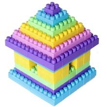 90PCS/pack Big Size DIY Model Building Bricks Blocks Toy for Kids House Designer Baby Assembling Toys