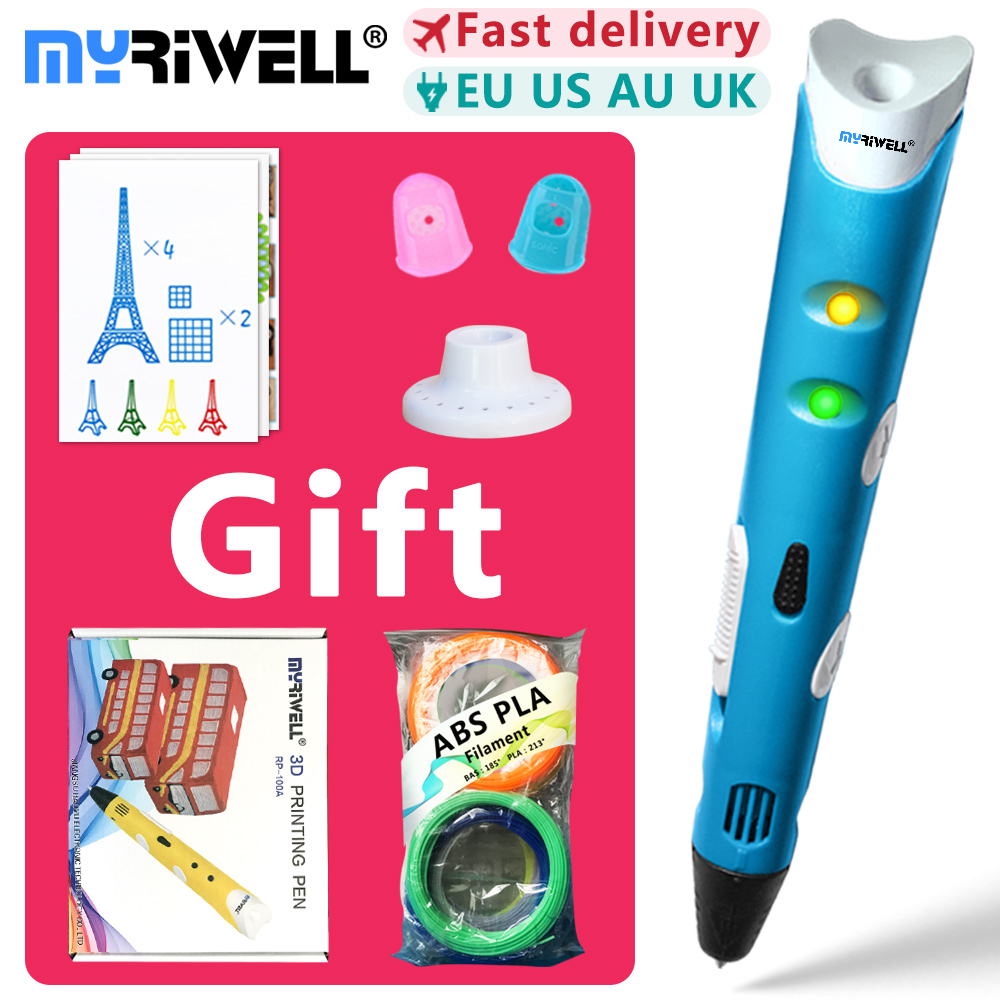 цены myriwell 3d pen 3d pens,1.75mm ABS/PLA Filament, 3d model,Creative 3d printer pen-3d magic pen,Best Gift for Kids,pen 3 d 2018