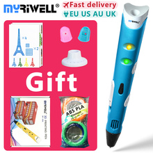 myriwell 3d pen 3d pens,1.75mm ABS/PLA Filament, 3d model,Creative 3d printer pen-3d magic pen,Best Gift for Kids,pen 3 d 2018 myriwell 3d pen rp 100b with pla abs filament 200m 3d printer pen 3 d pen free fingersleeve drawing tool the best child gift