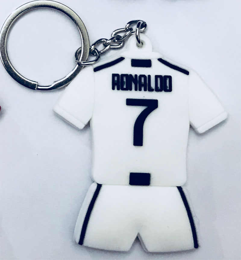 New Football CR7 C.RONALDO Messi Bale Keychain Gift Men Women Soccer Star United Pogba Soccer Fans Keychain Toy Sport Liverpool
