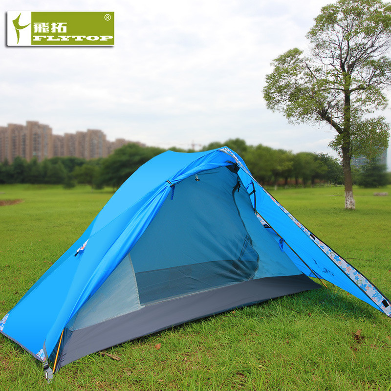 FLYTOP High Strength Ultralight Aluminium Alloy Pole Camping Tent 1 Person Double Layer Waterproof Tent for Mountain TripFLYTOP High Strength Ultralight Aluminium Alloy Pole Camping Tent 1 Person Double Layer Waterproof Tent for Mountain Trip