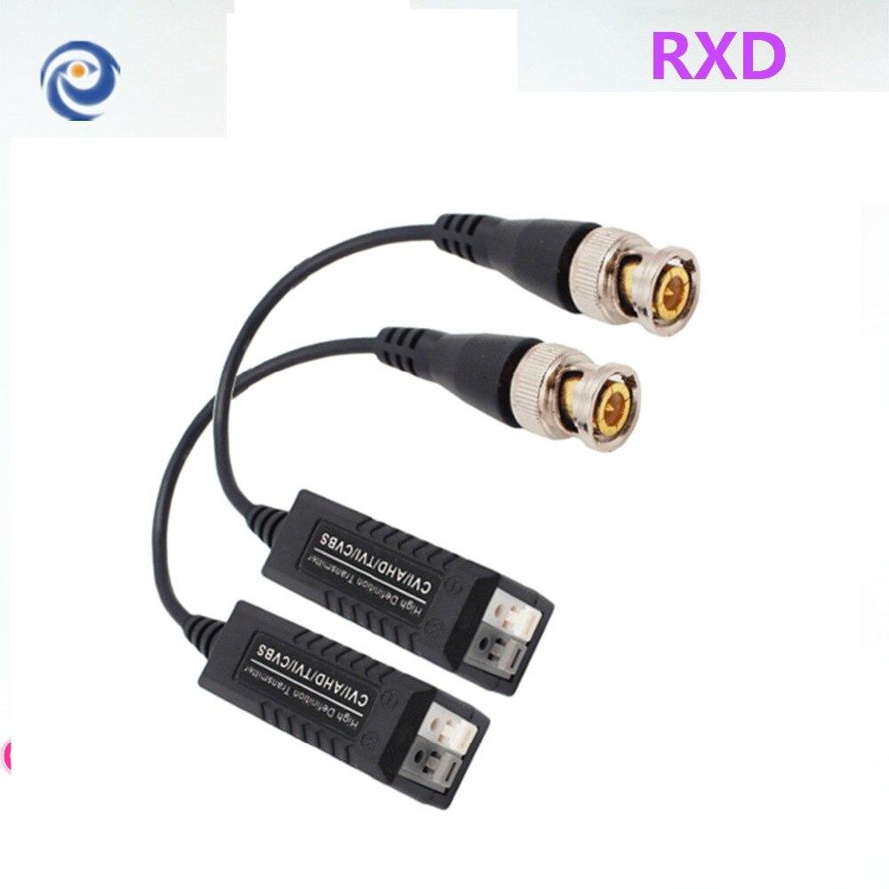 RXD Passive CVI/AHD Vidéo Balun 600 m Vidéo Émetteur-Récepteur à Paire Torsadée Transmetteur CCTV UTP Balun avec BNC Mâle CAT5