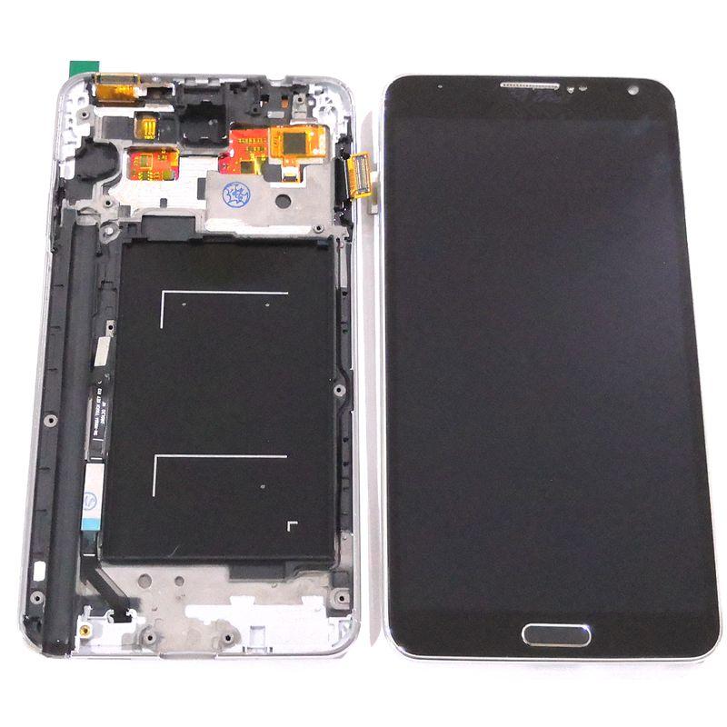 N9005 pour Samsung Galaxy note 3 n9005 n9000 TFT LCD avec cadre en verre tactile ensemble complet pour l'affichage de réparation (pas amoled)