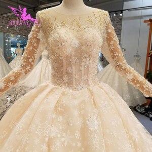 Image 2 - AIJINGYU فستان زفاف حقيقي العروس هاواي التركية حجم كبير الأفريقية صنع في تركيا الفاخرة دبي فساتين الزفاف