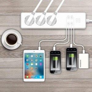 Image 5 - Wifi Smart multiprise 3 prises ue prise 4 Port de charge USB synchronisation App commande vocale travail avec Alexa,Google Home Assistant