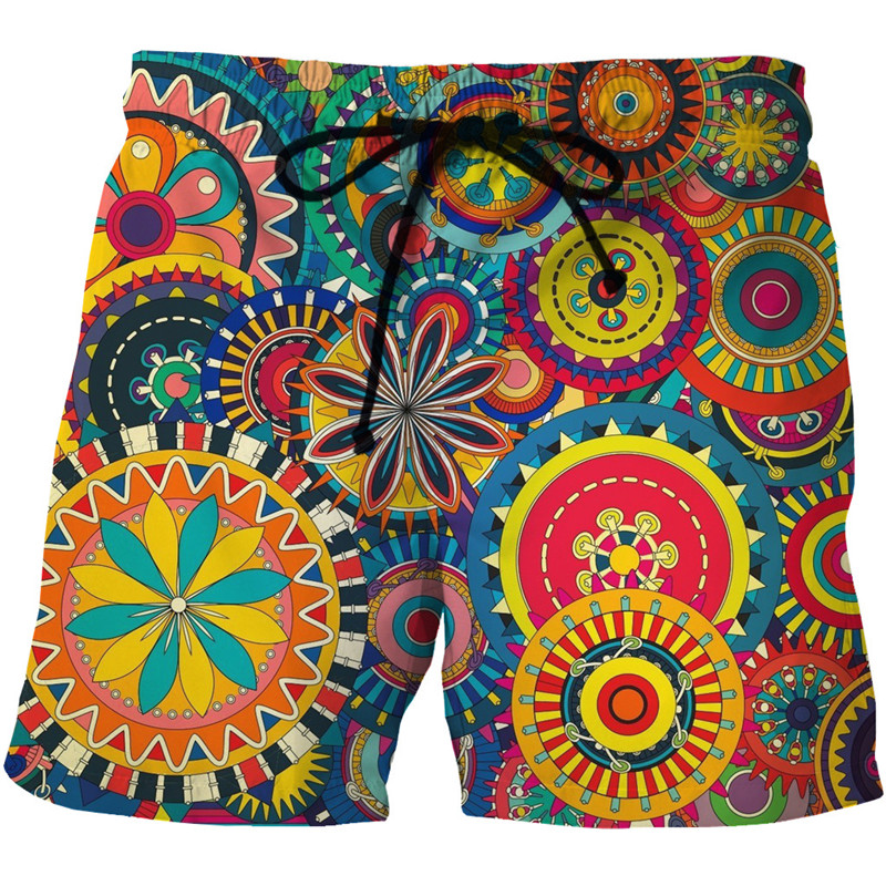 Mens Hipster Quick Dry Summer Beach Board Shorts 2018 Fashion African Dashiki Printed Boardshorts Men Casual Brand 3D Beachshort