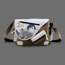 Attack on Titan Law Canvas Casual Zipper Boys Girls Shoulder Bag Crossbody Bags Schoolbags Messenger Bag