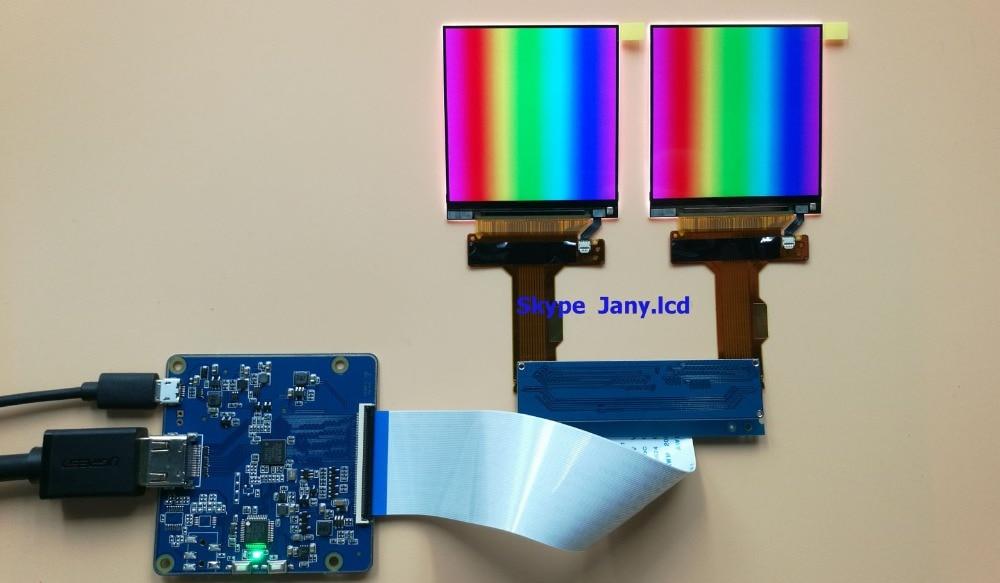 2 K 2.9 pouces MIPI interface 1440*1440 VR AR lcd panneau d'affichage avec HDMI conseil