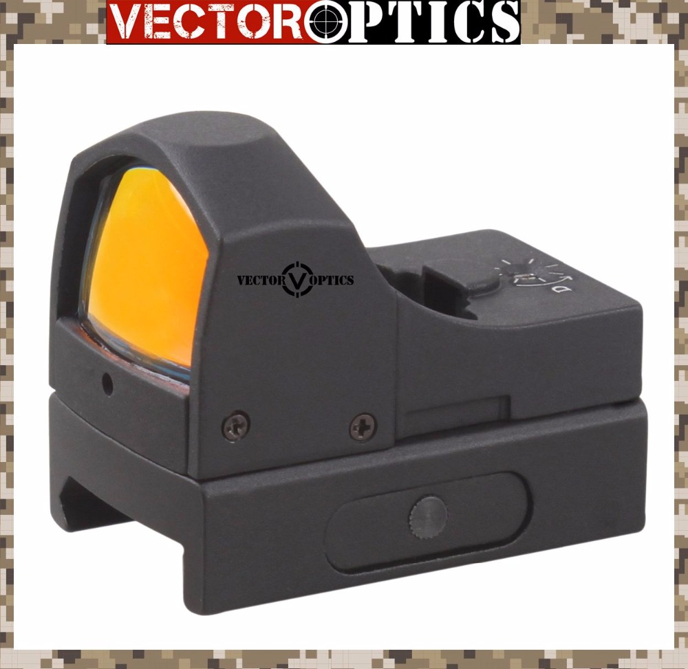 Vector Optics Micro Reflex Hunting Red Dot Scope with 3 MOA Dot Mini Weapon Gun Sight fit 21mm Weaver or 11mm Dovetail Rail vector optics tactical harrie 1x22 mini red dot scope reflex pistol weapong gun sight with 21mm picatinny mount base