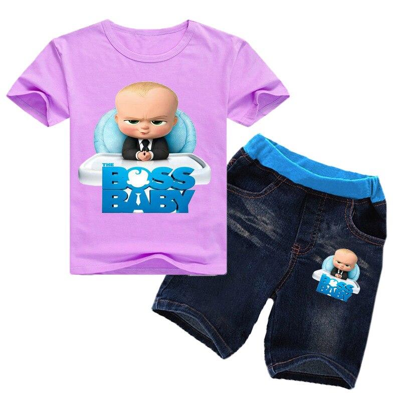 Calças de Brim Shorts Jeans 2 pcs
