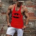 Batman imprimir Parte Superior Do Tanque Dos Homens de Musculação e de Fitness Muscular Singlets Coletes Sem Mangas Coletes Camisa de Algodão Tops 19