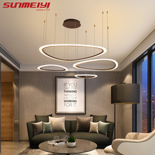 Nordic LED Pendant Lights Art rings Hanging Lamp For Kitchen Living room Bedroom Cafe Bar Stair Pendant Lighting avize mutfak nordic led acrylic art pendant lights bedroom modrn living room study pendant lamps stair villa lighting fixture luminaire avize