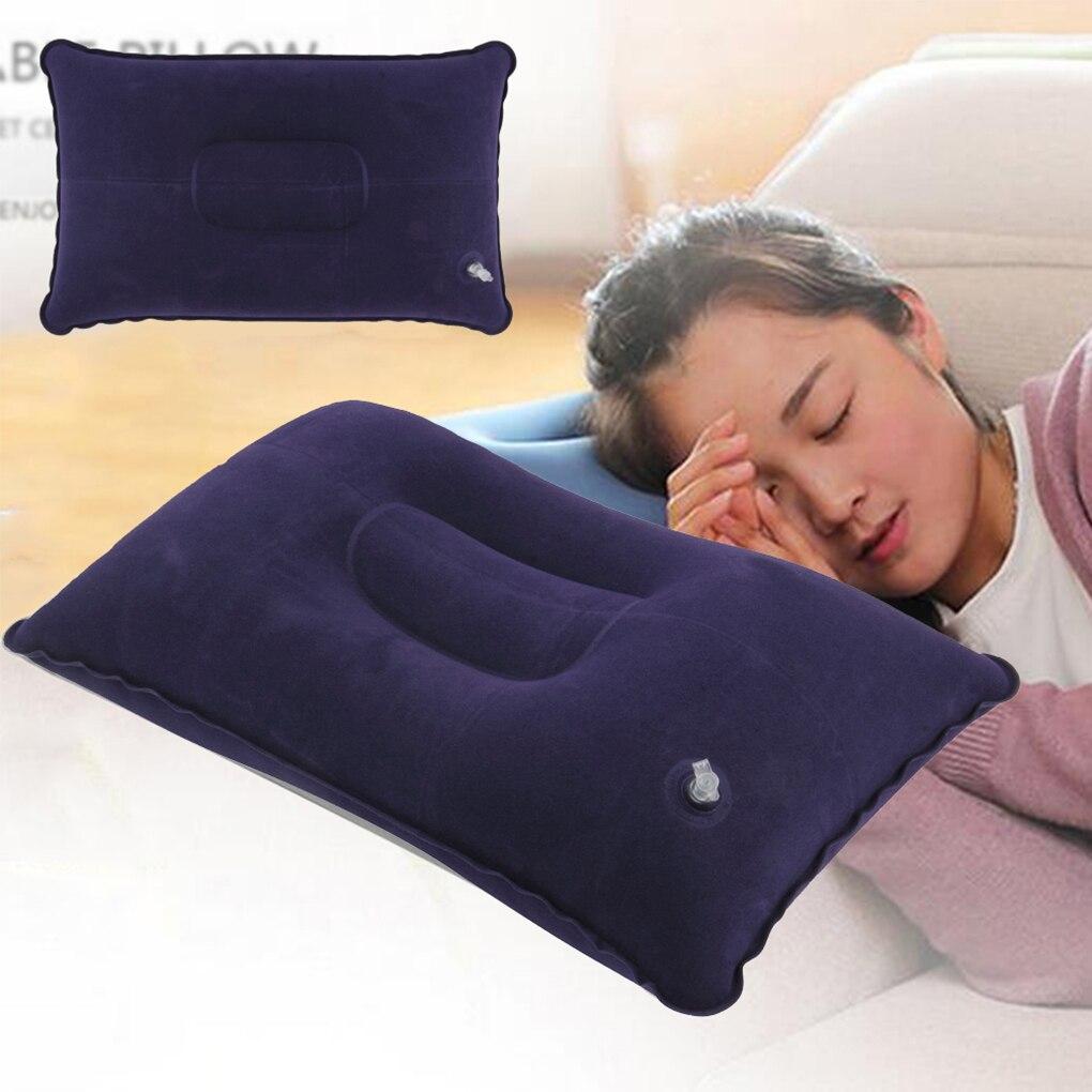Durable Portable Fold Outdoor Travel Sleep Pillow Air Inflatable Cushion Break Travel Plane Hotel Rest  42