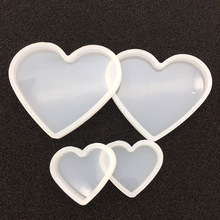 Love heart shape clay Silicone Mould DIY Soft pottery base Mud mold tools Resin Decorative Craft Jewelry Making molds