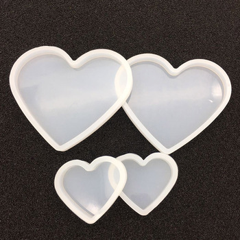 Love heart shape clay Silicone Mould DIY Soft pottery base Mud mold tools Resin Decorative Craft Jewelry Making molds 2019 new multi function storage mobile phone holder pen holder silicone clay mould epoxy resin decorative craft diy clay molds