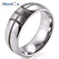 SHARDON 8mm Men S Dome Tungsten Carbide Comfort Fit Basketball Design Ring With Black Laser Sport