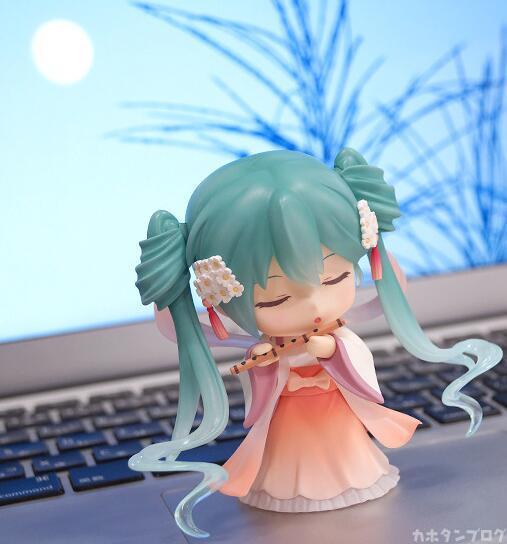 Mid-Autumn moon cake Hatsune Miku Nendoroid Anime Collectible Action Figure PVC toys for christmas gift with retail box