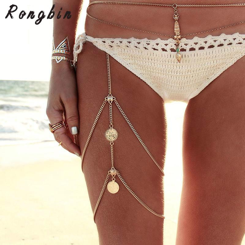 Leg Chains Boho Anklet Chain Body Jewelry Gold Silver Color Anklets For Women Leg Chains New
