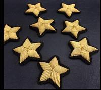 New Star Lụa Emboridered Vá Trâm Ấn Độ Dây Lụa Handmade Thêu Vải Huy Hiệu Vá Thời Trang Quần Áo Trang Trí