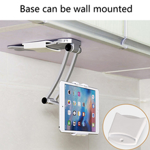 Wall Desk Tablet Stands Kitchen Mount Stand Phone Holder For 5-10.5 inch Width for iPad tablet Notebook Holders