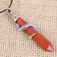Natural Crystal Hexagon Pillar Pendant Fashion National Wind Men And Women S 12 Chinese Zodiac Protection