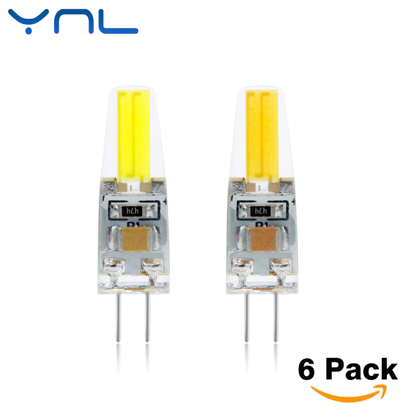 YNL 6pcs/lot COB LED G4 Lamp 6W Lampada LED Bulb AC/DC12V 220V G4 LED Light High Bright Home Decoration Lighting For Chandelier