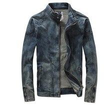 Новинка Ретро классика джинсовая куртка весна осень мужские винтажные повседневные тонкие куртки мужские пальто джинсовые куртки размера плюс A1728