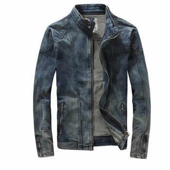 New Retro Classics Denim Jacket Spring Autumn Men Vintage Casual Slim Jackets Men\'s Coat Jeans Jackets Plus Size A1728 - DISCOUNT ITEM  14% OFF Men\'s Clothing