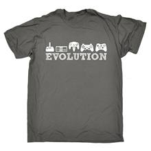 Evolution Gaming T-shirt Video Game Gamer Konsol Joystick Lucu Hadiah Ulang Tahun(China)
