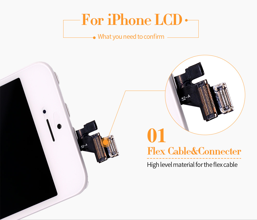 HTB1n9CHhbArBKNjSZFLq6A dVXaR Black/White Assembly LCD Display Digitizer for iPhone 6s AAA Quality LCD Touch Screen for iPhone 6 7 5s No Dead Pixel with Gifts