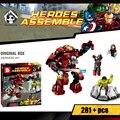Super heroes avengers bloques set compatible con lego marvel modelo kit de construcción de ladrillos de juguetes educativos para niños