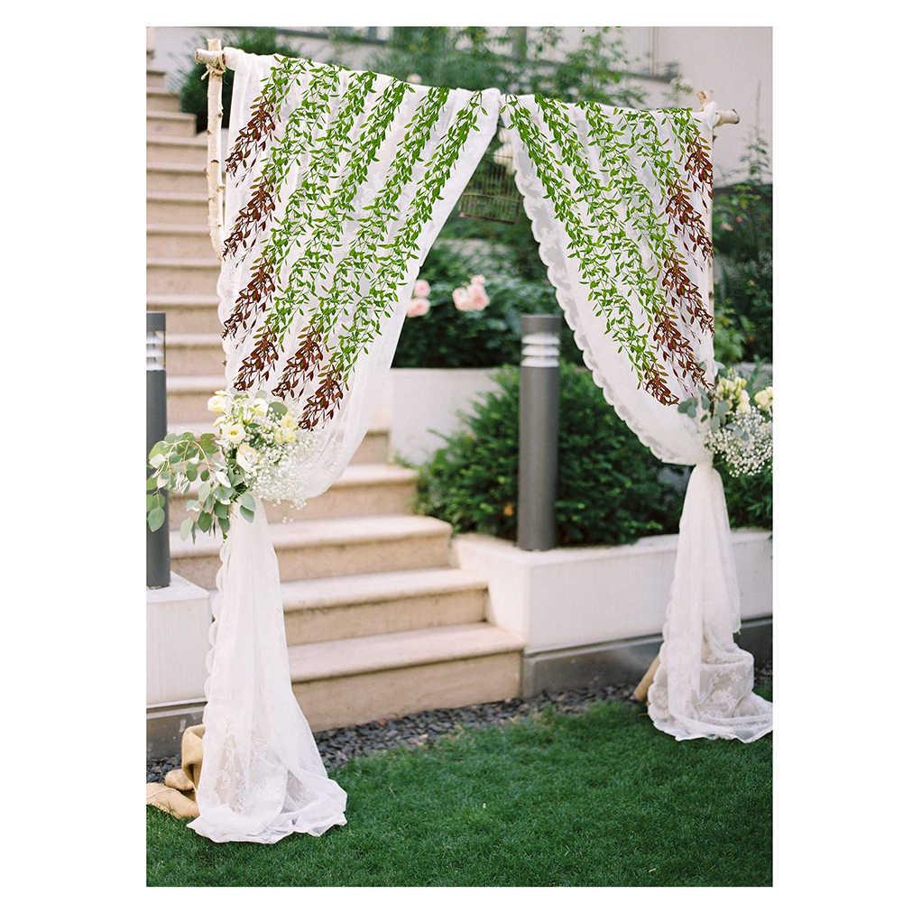 6 pièces/ensemble feuilles de saule artificielles Simulation plante verte maison jardin tenture murale vignes Faux verdure plante pour la décoration de fête