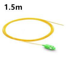 1.5 m de fibra SC APC pigtail Simplex 9/125 G657A Pigtail Único Modo de Fibra Óptica FTTH