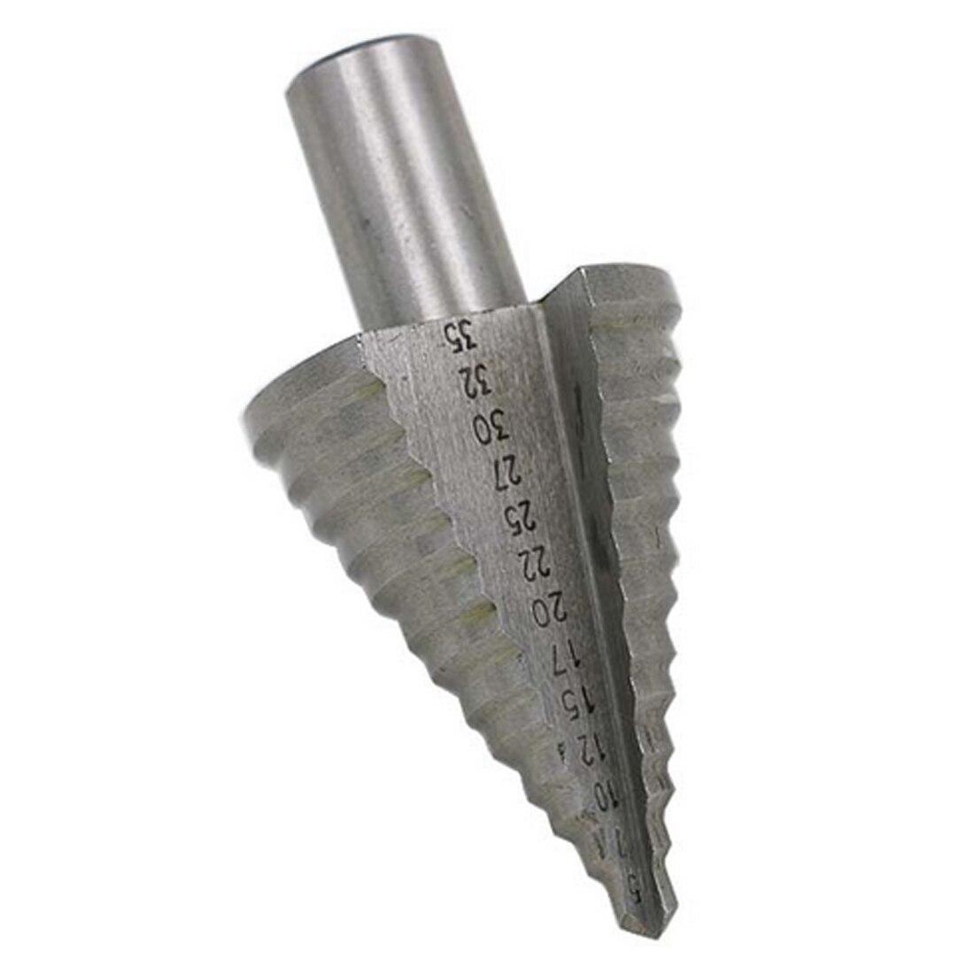 Passo Punta del trapano 5-35mm 13 Passi (5,7, 10,12, 15,17, 20,22, 25,27, 30,32, 35mm) HSS Cobalto Alesatore Più del Foro del Metallo di Perforazione del Metallo Strumento