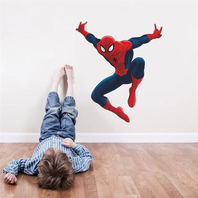 Muurstickers Kinderkamer Spiderman.Spiderman Super Heros Muurstickers Kinderkamer Decor Avengers S003