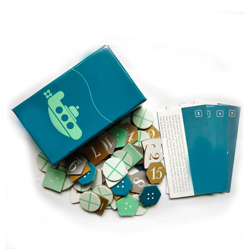 Deep Sea приключенческая игра с английскими инструкциями забавная карточная игра 2-6 игроков семейная/вечерние игра