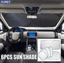DSJ 6pc Silber Auto Front Rear Side Fenster Sonnenschutz Blind Visier Windschutzscheibe Abdeckung Schnee Block Bildschirm Schild schutz Sonnenschirm